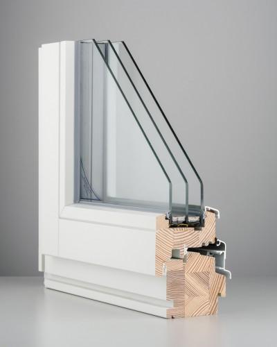 DK88 wooden window (3-glazing)
