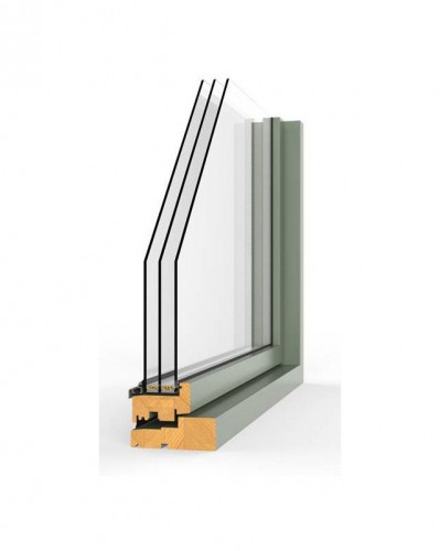 SW17 wooden window (3-glazing)