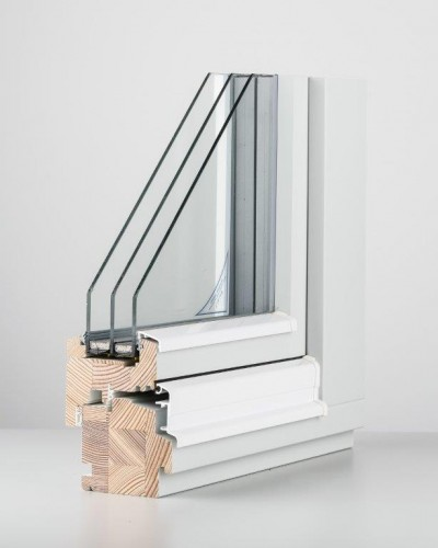 DK13 wooden window (2- or 3-glazing)